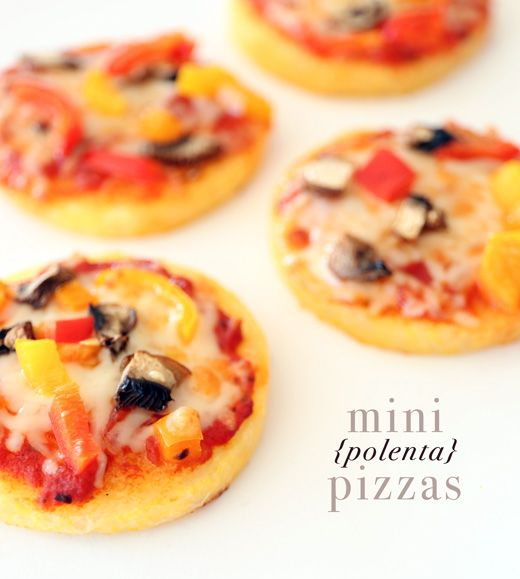 Mini polenta pizzas