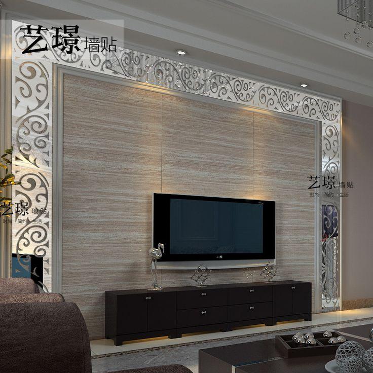 Pas nástenné samolepky zrkadlové steny krištáľové 3D stereo módne stropné pozadí nástenné dekorácie akryl samolepky na stenu do steny nálepky z Dom a záhrada o Aliexpress.com   Alibaba Group