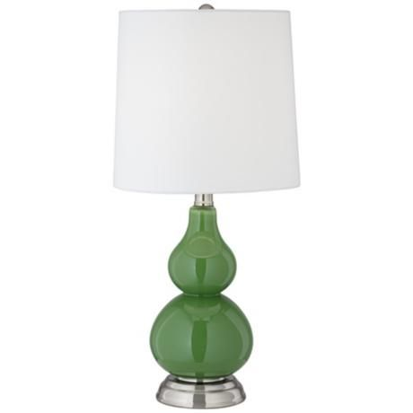 Gecko Green Small Gourd Accent Table Lamp $40
