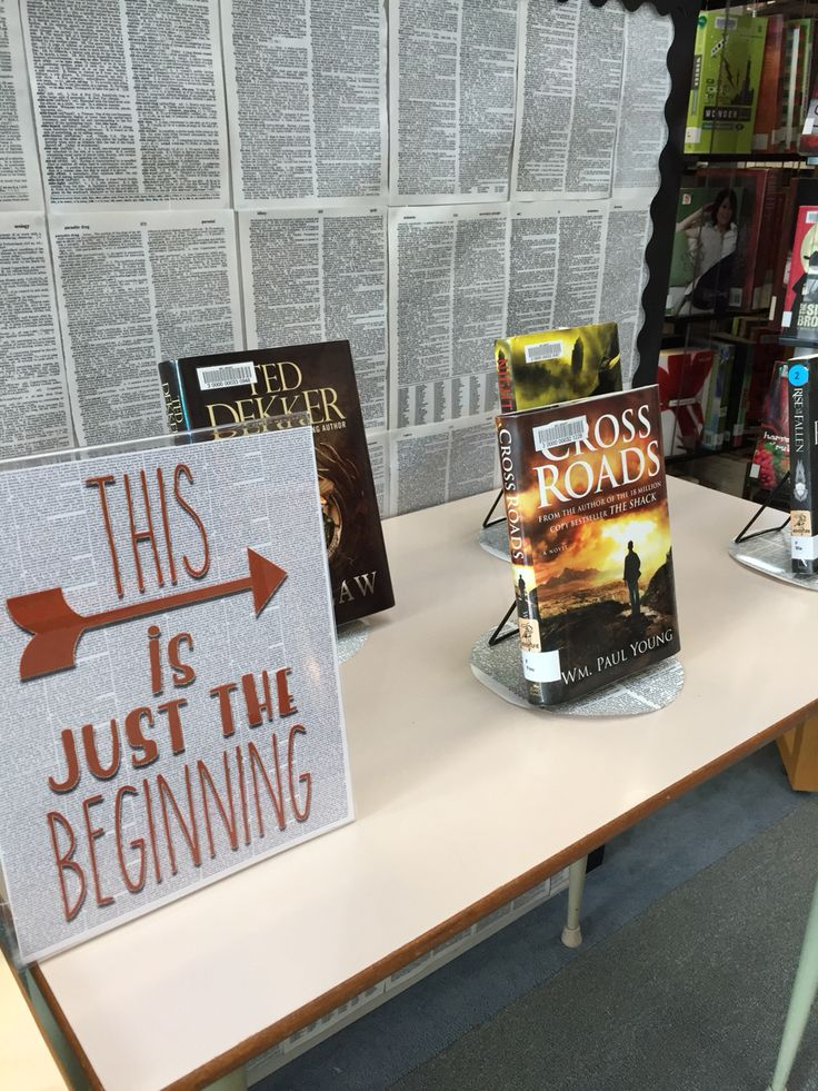 This is just the beginning : Adventure fiction : January New Years display : at MEI Secondary Library
