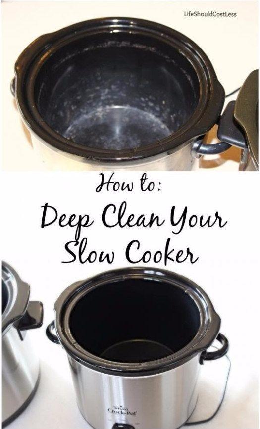 Get rid of stubborn stains with white vinegar + baking soda.