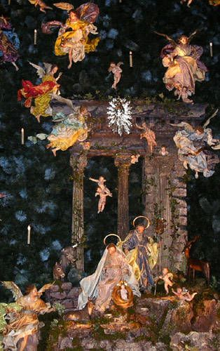 Annual Christmas Tree and Neapolitan Baroque Crèche at The Metropolitan Museum of Art - The Holy Family and Angels
