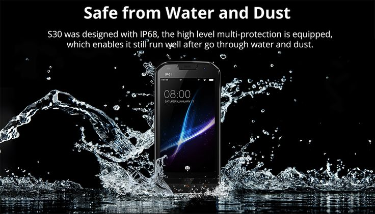 DOOGEE S30 IP68 Waterproof 4G Phone w/ 2GB RAM, 16GB ROM - Golden - Free Shipping - DealExtreme