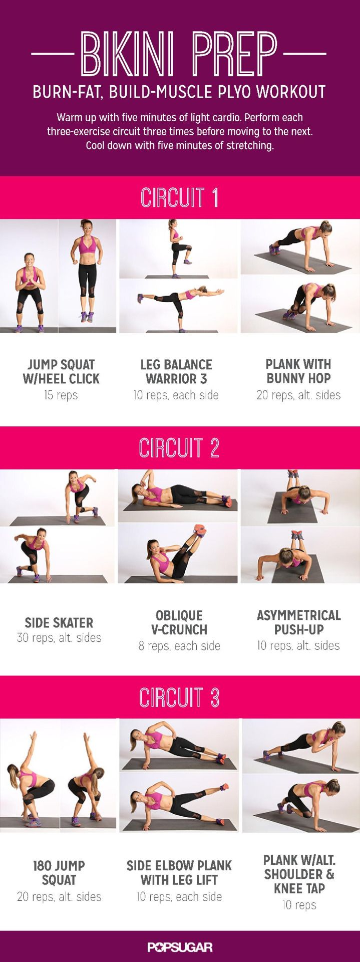 "sassyfitblog: ""Bikini Prep Plyo Workout Summer is less than 30 days away. If you've been slacking, it's time to kick it up a notch. There's no better fat burner & muscle builder than a Plyometric Workout. This one will help you get shredded. It's..."