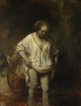 Rembrandt: 'A Woman bathing in a Stream (Hendrickje Stoffels?)' © The National Gallery, London