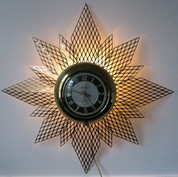 46 Best Images About Vintage Starburst Clocks On Pinterest