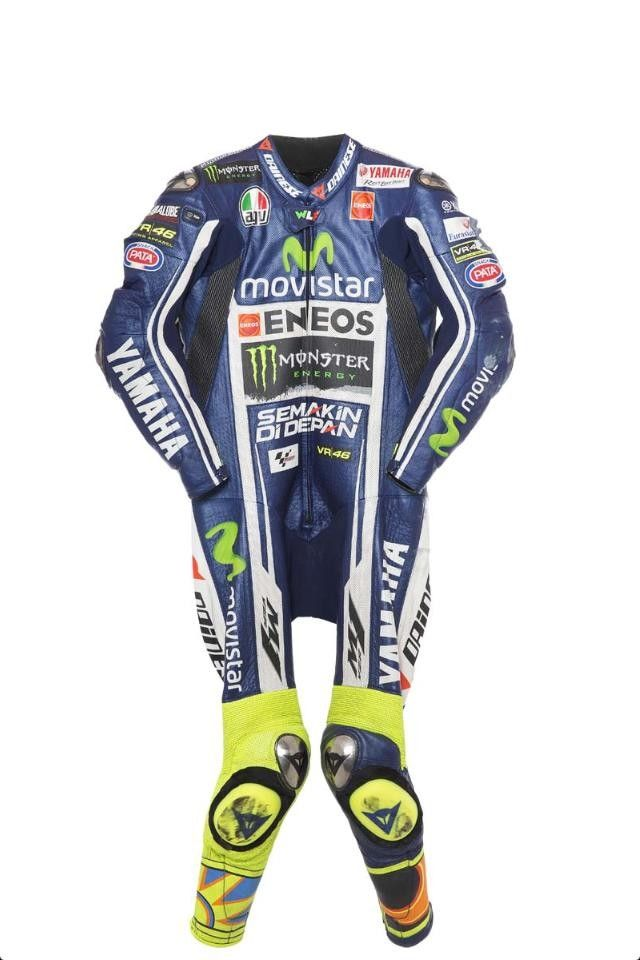Valentino Rossi Motorbike Racing Set Replica Available Now at €550 Sizes Available Customization on Demand. Delivery time: 10-15 working Days. Free Delivery Worldwide Delivering Safety Worldwide..