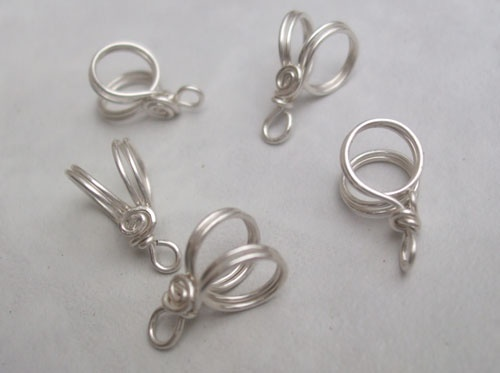 PurpleLily Designs, Handmade Wire Bails(sterling silver, Copper, & Brass)