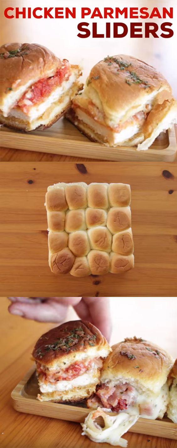 Chicken Parmesan Sliders Recipe