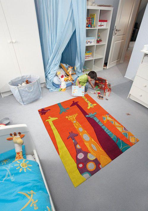 E-color - Kusové koberce - Dětský kusový koberec Žirafy