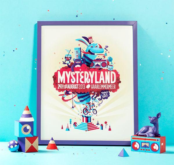 Mysteryland by Patswerk, via Behance   #branding #illustration