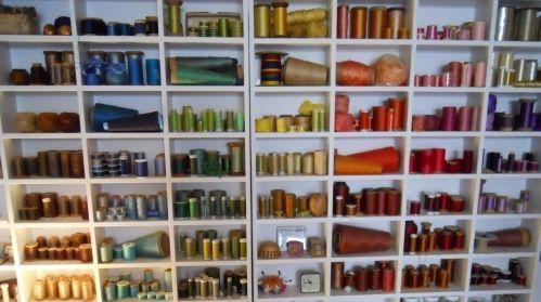 fabric artist's studio
