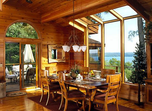 1000 ideas about lindal cedar homes on pinterest cedar for Log home sunrooms