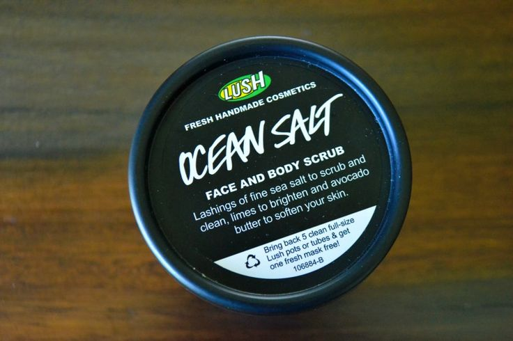 LUSH PRODUCT REVIEW: > Ocean Salt face & body scrub > Mask of Magnaminty ACCORDING TO KATIE BLOG