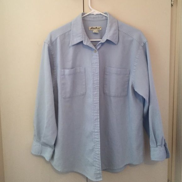 Eddie Bauer button down shirt  Button-down shirt with a waffle pattern to the material. Eddie Bauer Tops Button Down Shirts