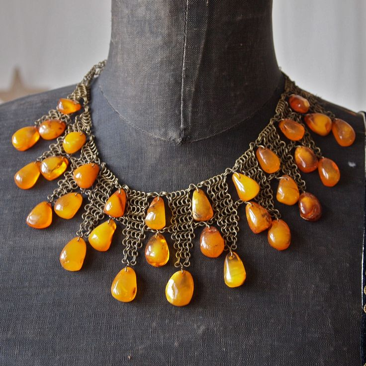 Rare Baltic Butterscotch Amber Necklace via Etsy.