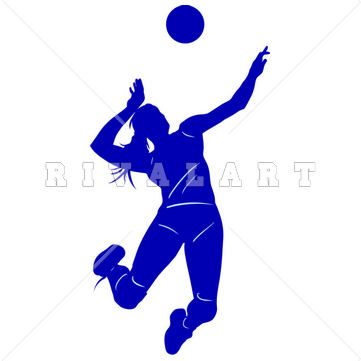 Sports Clipart Image of Girls Beach Volleyball Player Spiking Silhouette http://www.rivalart.com/cart/pc/viewCategories.asp?idCategory=33&opid=5