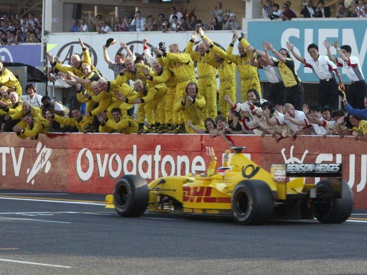 Takuma Sato scoring his 1st points of the season at Japan 2002