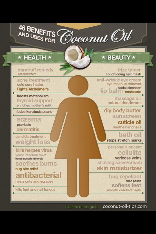 The Benefits of Coconut Oil. {Infographic & Video} Via Lynn Hasselbergeron Feb 4, 2014 I love coconut oil. I put it into smoothies, cook wit...