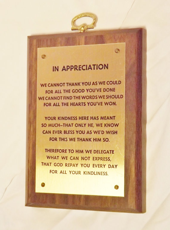 Thank You Plaques for Donations | just b.CAUSE