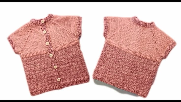Жилет спицами для детей Зимний жилет на пуговицах wwwika crochet