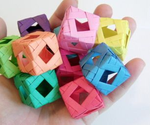 Follow these steps to make your very own Diamond Window Cube.  I'm not sure about the origin of these types of cubes (please share if you do) or their...