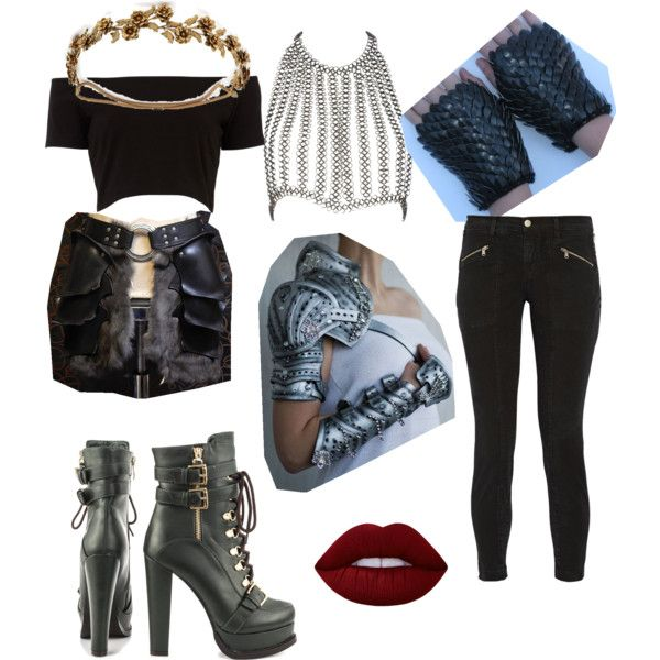 A fashion look from March 2016 by becfinck featuring Fannie Schiavoni, J Brand, Luichiny, Jennifer Behr, Lime Crime and Black Scale