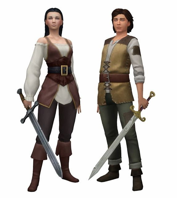 History Lover's Sims Blog: Medieval swords • Sims 4 Downloads