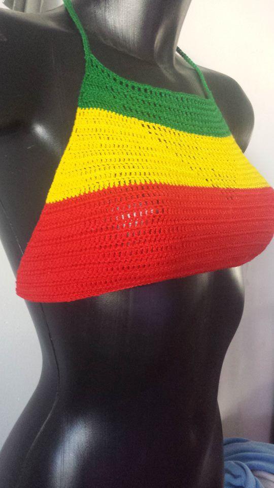 Mira este artículo en mi tienda de Etsy: https://www.etsy.com/es/listing/488902484/top-de-crochet-rastafari-bandera-rasta