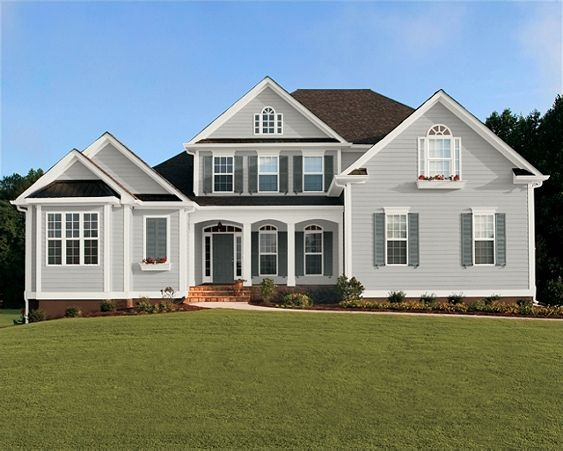 Beige House Gray Shutters Posted By P S I Love This