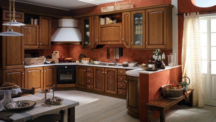 Madeleine kuchyňská linka do rohu / rustic corner kitchen