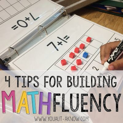 Don't fear Autism and Math! Check out these 4 simple tips for improving math fluency in an Autism Classroom!