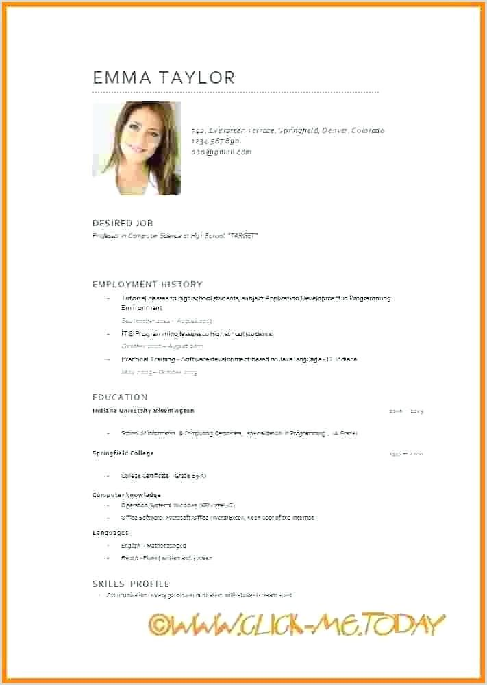 Europass Cv Format For Students Curriculum Vitae Medical Assistant Resume Cv Format For Students