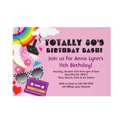 Totally 80s Birthday Party Invitations    http://rlv.zcache.com/totally_80s_theme_party_birthday_invitations-p161523981116577850en75o_325.jpg
