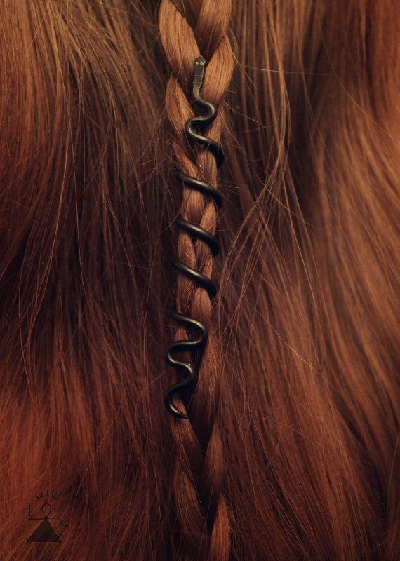 Custom Jörmungandr Hair Bead  Midgard Serpent  by LoitsuCrafts