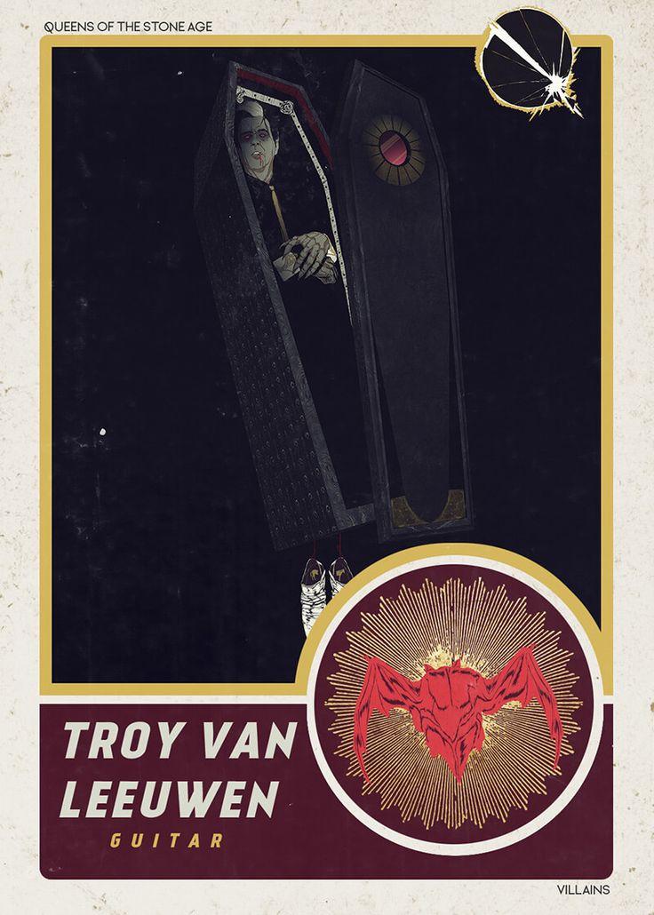 Troy Van Leeuwen card from QOTSA's Villains