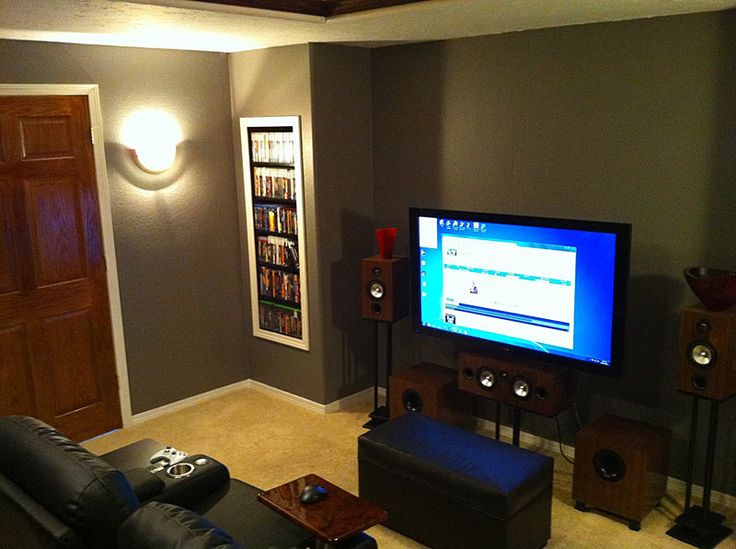 Great Idea To Have The Dvd S Stored In A Built In Man