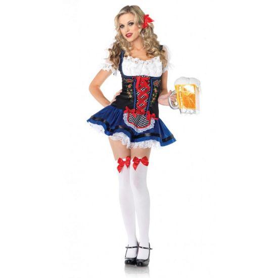 Sexy Heidi jurk voor dames  Leg Avenue Tiroler Heidi jurkje voor dames. Luxe Tiroler jurkje voor dames. Dit Heidi kostuum bestaat uit een geborduurd jurkje met een schortje strikjes en kanten ruches.  EUR 59.96  Meer informatie
