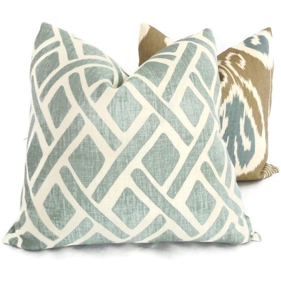 Hey, I found this really awesome Etsy listing at http://www.etsy.com/listing/151159665/kravet-laguna-trellis-decorative-pillow