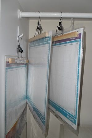 I came up with a great way to store my Scan'N'Cut mats so they remain flat. Hang them using felt lined trouser hangers. I found these at IKEA. The felt protects the mats so they aren't damaged. The...