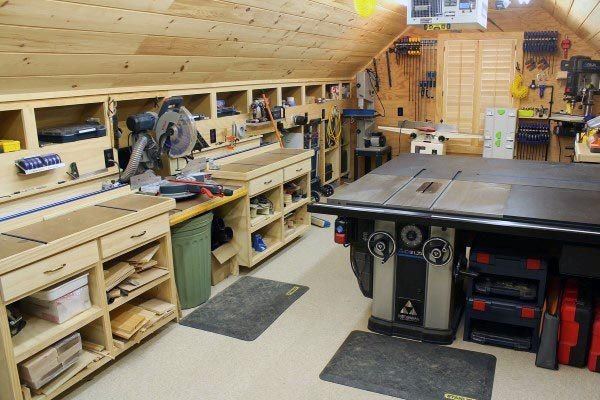 Top 60 Best Garage Workshop Ideas Manly Working Spaces Wood
