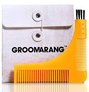 New Groomarang Beard Styling and Shaping Template Comb Tool Perfect Lines & Symmetry Shape Face Neck Line Fast And Easily. by Groomarang