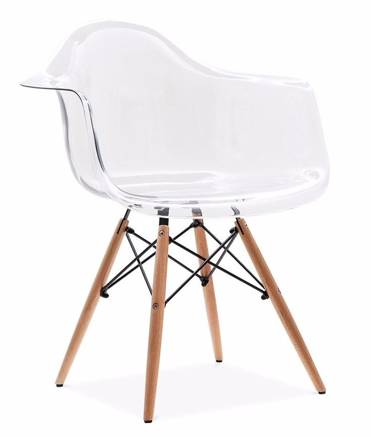 cadeira eames eiffel com braços policarbonato transparente