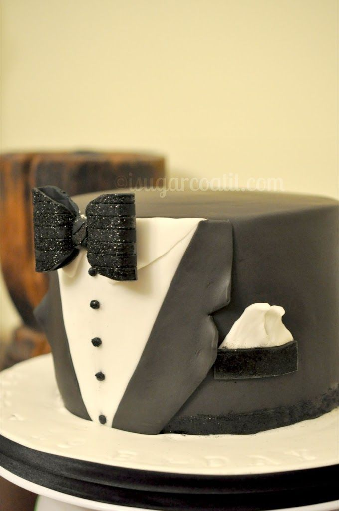 James Bond Tuxedo Birthday Cake