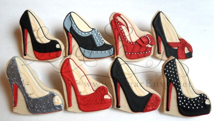 Christian Louboutin Cookies by Sugar Envy   http://www.flickr.com/photos/sugarenvy/  http://www.SugarEnvy.net