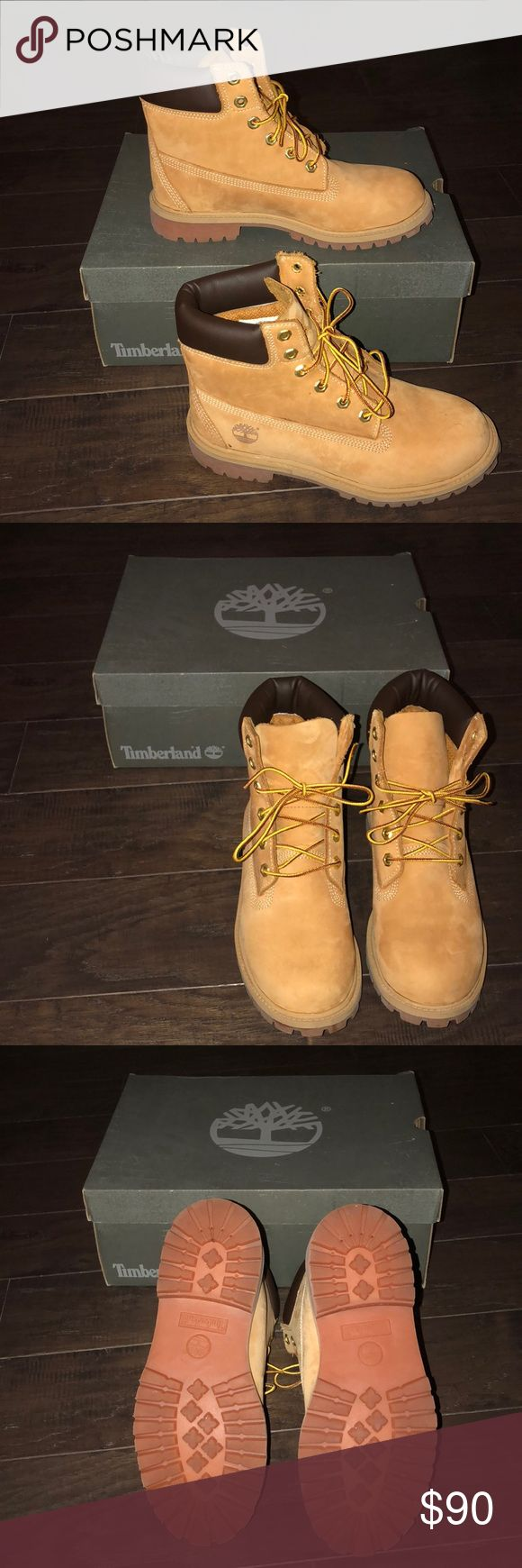 NEW Timberland boots Size 6. NEW Timberland boots Size 6. These are juniors size 6 so they fit Women's 7 or 7.5. Cross posted, priced to sell! Timberland Shoes Winter & Rain Boots