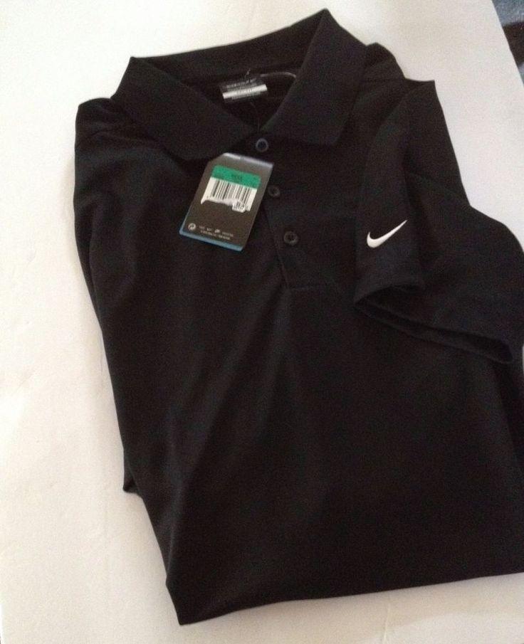 NEW Nike Golf Dri-Fit Polo Shirt  Mens  Sports Polo Shirt  black XL #NikeGolf #PoloTShirt