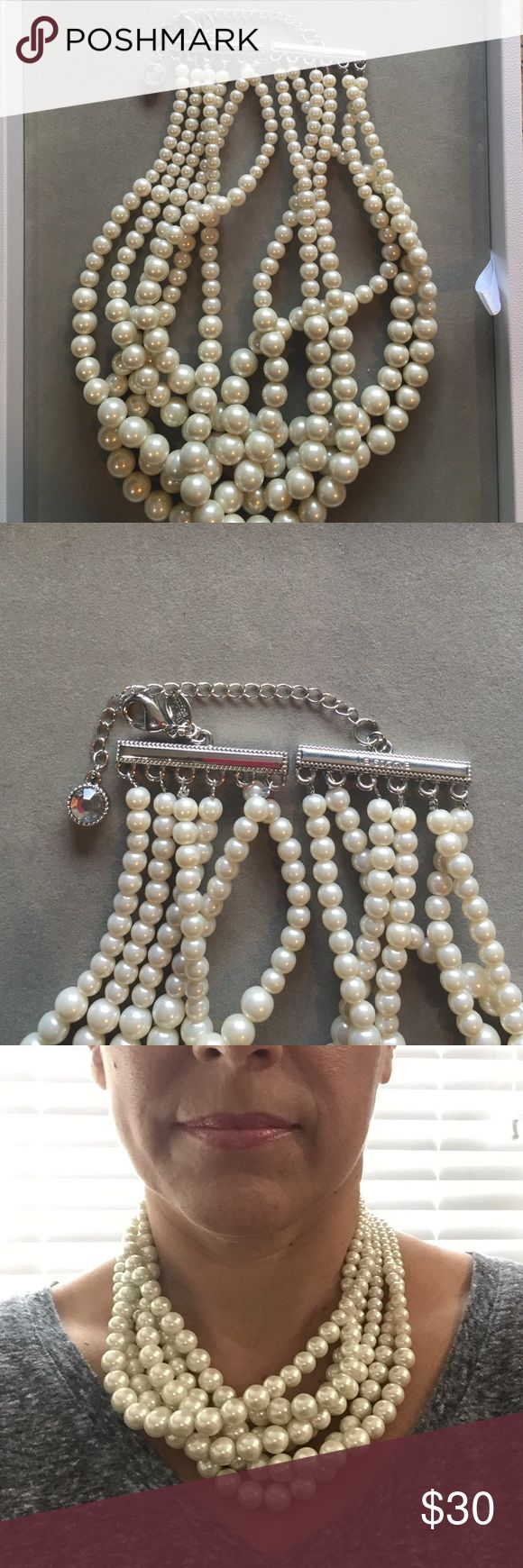 "Lia Sophia necklace Adjustable 17""-20"" six-strand necklace by Lia Sophia Lia Sophia Jewelry Necklaces"