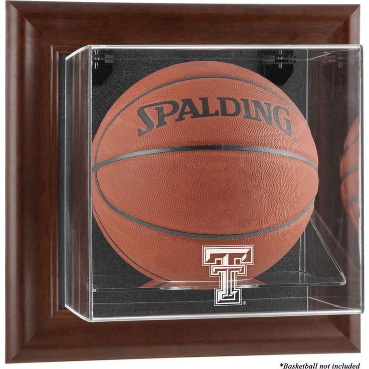 Texas Tech Red Raiders Fanatics Authentic Brown Framed Wall-Mountable Basketball Display Case