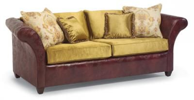 leather sofa w/fabric cushionsFlexsteel Couch, Leather Sofas, Sofas Cushions, Sofas W Fabrics, Sofas Ideas, Studios Couch, Mixed Leather,  Day Beds, Flexsteel Sofas